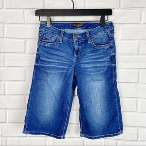 Dear John Bermuda denim blue jean shorts 25